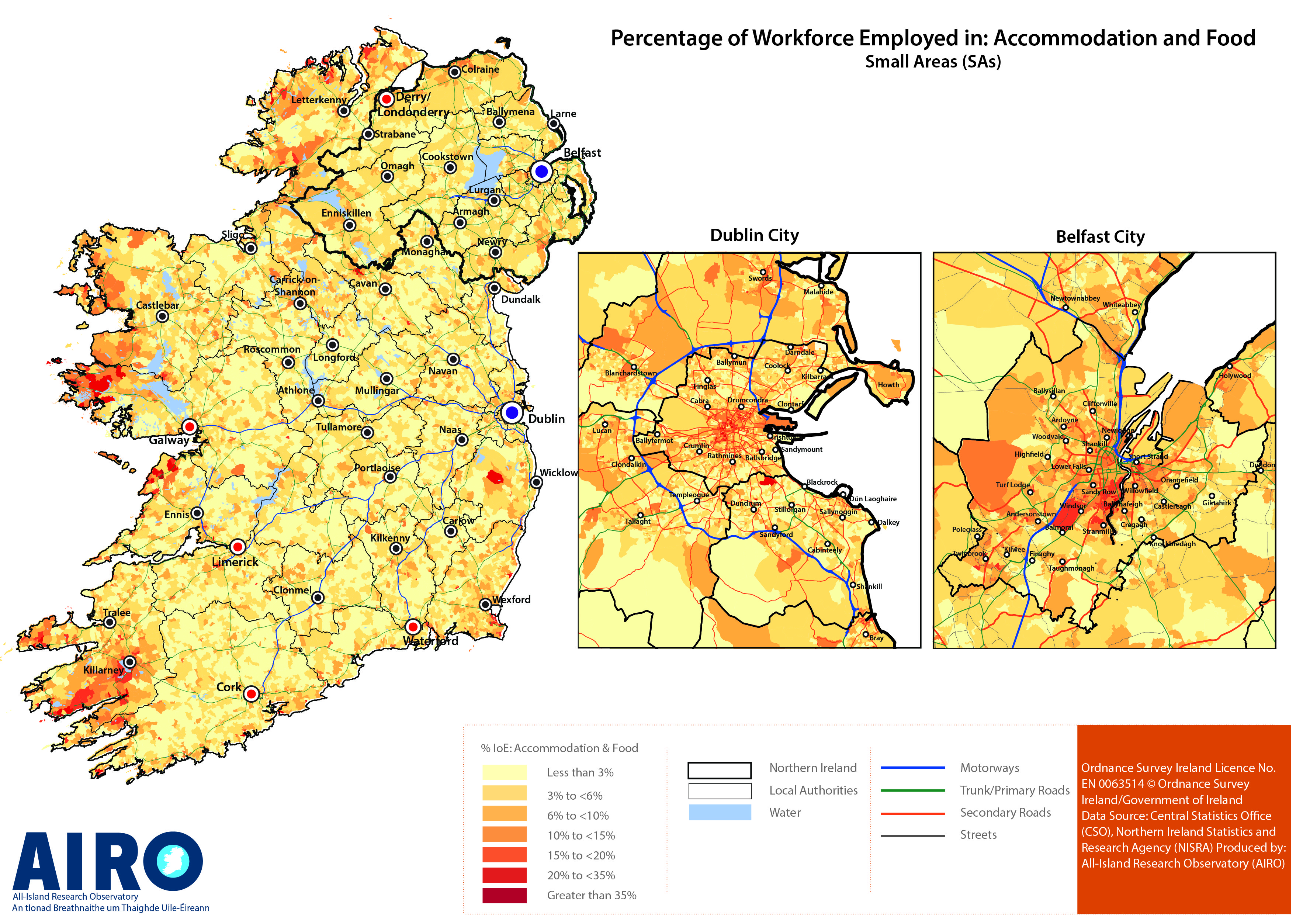 Pdf Map Of Ireland.Industry Employment Labour Market All Island Research Observatory
