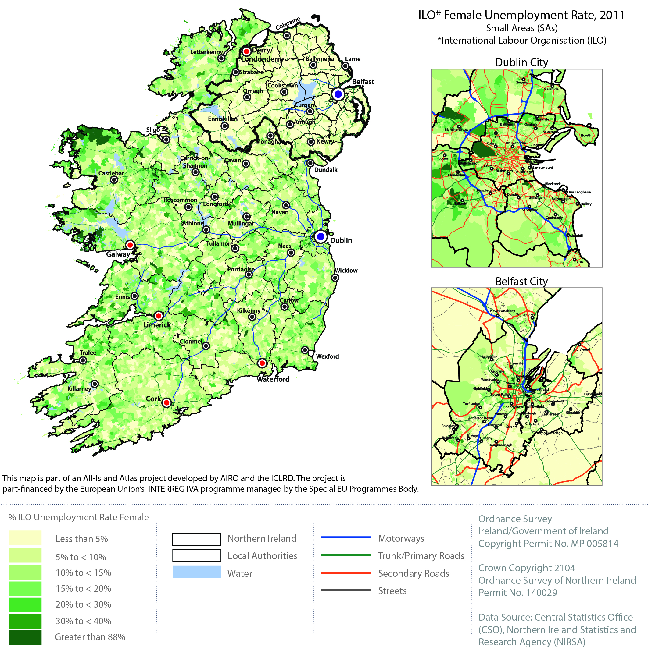 Map Of Ireland Download.Industry Employment Labour Market All Island Research Observatory